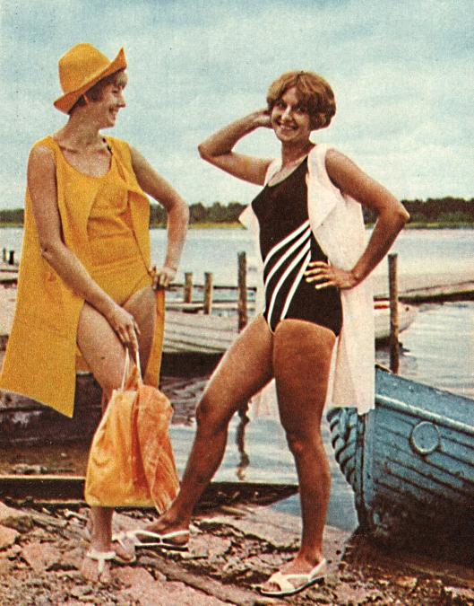 женская одежда для пляжа времен СССР