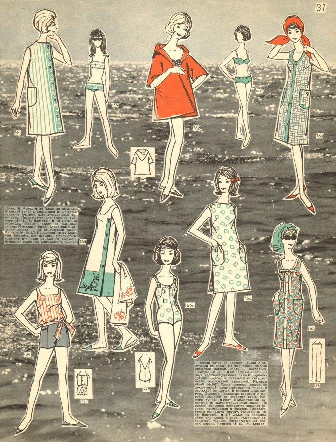 советская женская одежда для пляжа