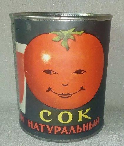 банка от советского томатного сока