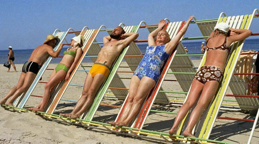 люди на пляже ссср