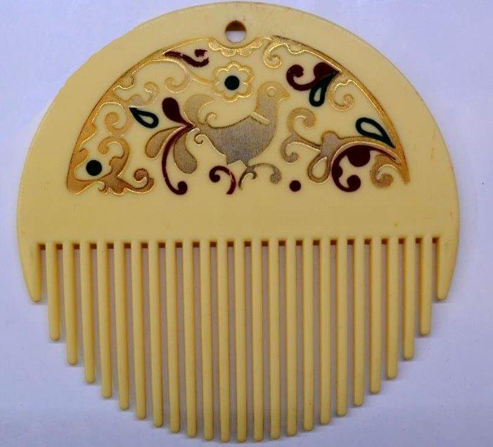 советский круглый гребень для волос