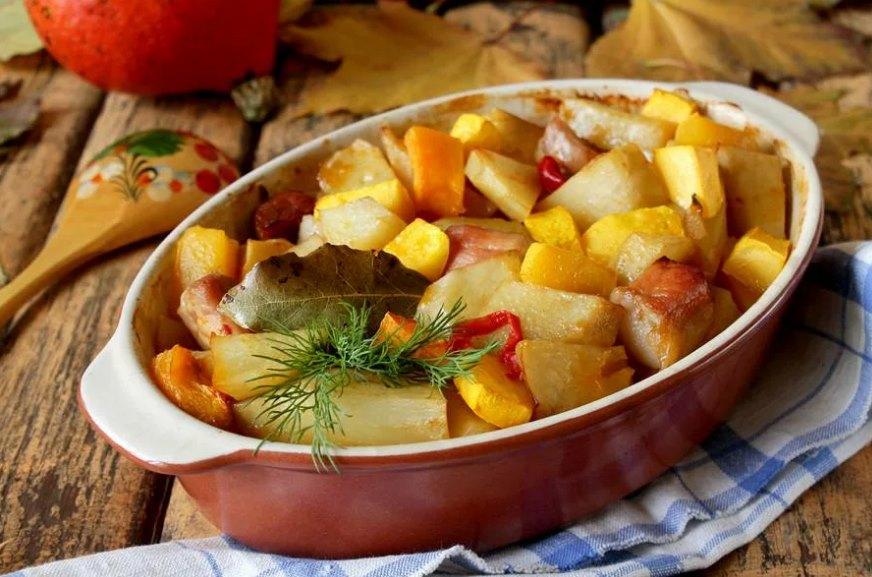 картошка с мясом в советской утятнице