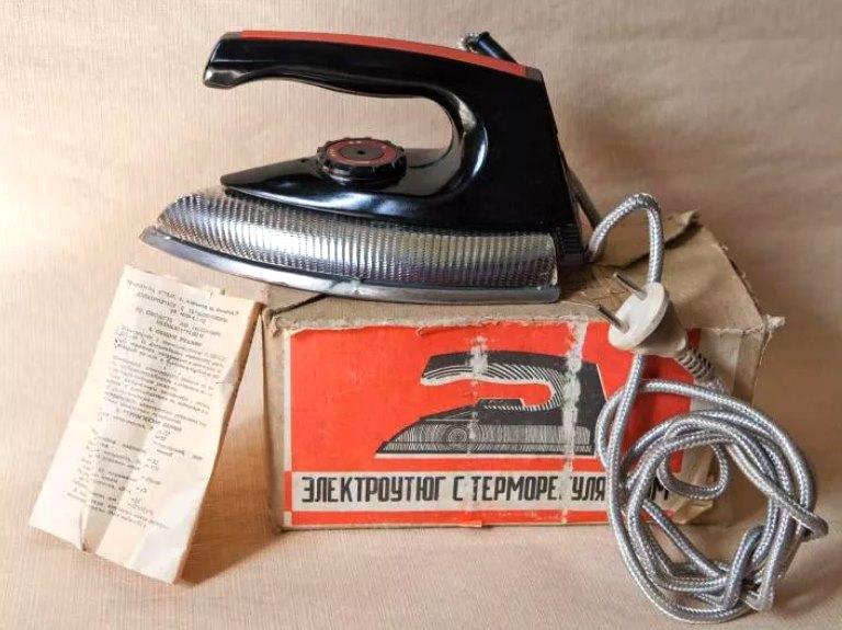 советский утюг с терморегулятором