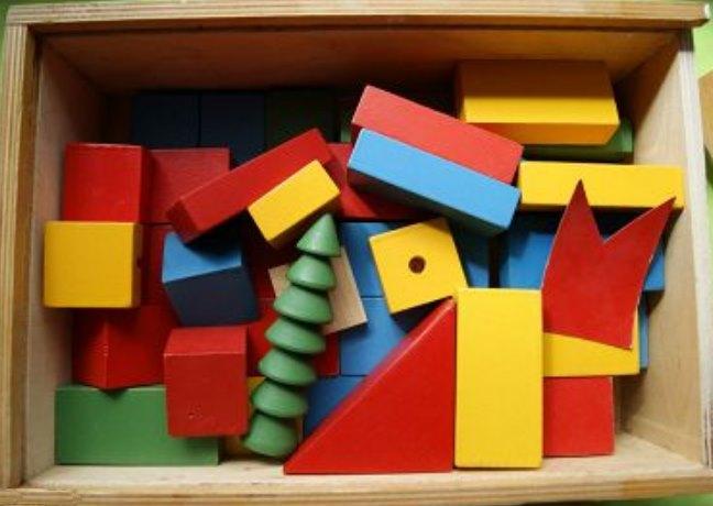 советский строительный набор из кубиков