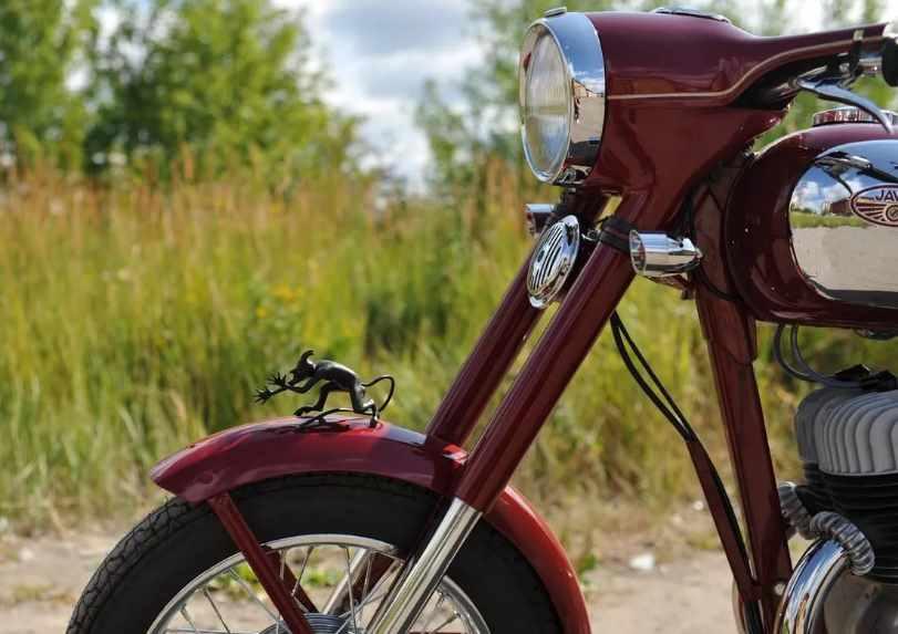 чертик на крыле мотоцикла