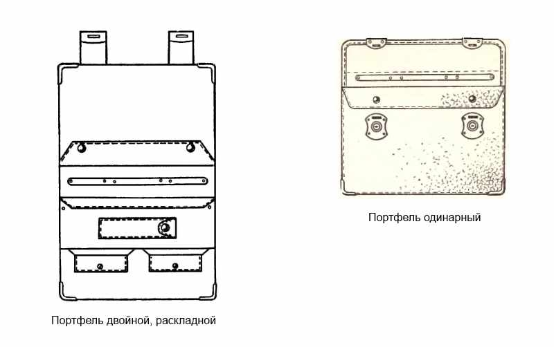 двойной и одинарный советский портфель